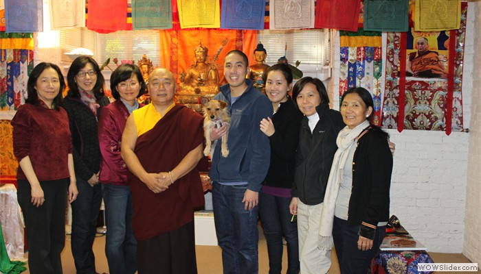 H.E Rinpoche with his Students